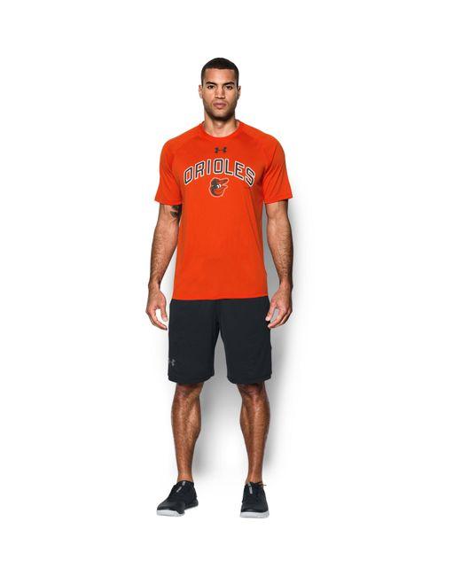 Under Armour | Orange Men's Baltimore Orioles Ua Techtm T-shirt for Men | Lyst