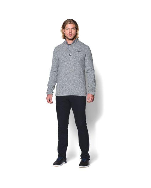 Under Armour - Gray Cgi 1/4 Zip Performance Sweatshirt for Men - Lyst