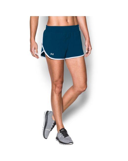 Under Armour - Blue Women's Ua Launch Tulip Shorts - Lyst