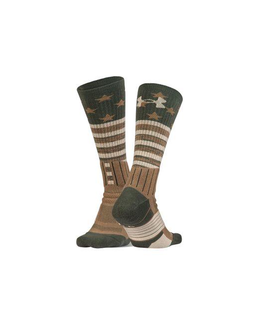 Under Armour - Green Men's Ua Unrivaled Stars & Stripes Crew Socks for Men - Lyst