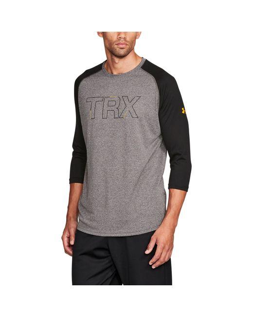 Under Armour - Gray Men's Ua X Trx 3⁄4 Sleeve T-shirt for Men - Lyst