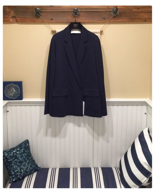 Harris Wharf London - Slouchy D.b. Blazer Light Viscose - Navy Blue - Lyst