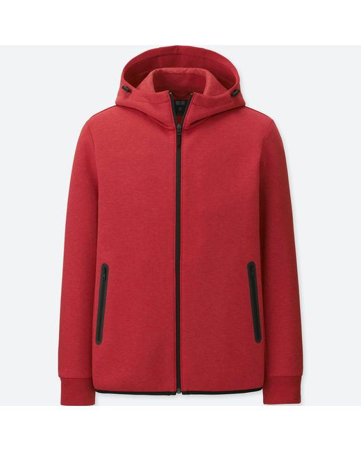 Uniqlo - Red Men Dry Stretch Sweat Full-zip Hoodie for Men - Lyst