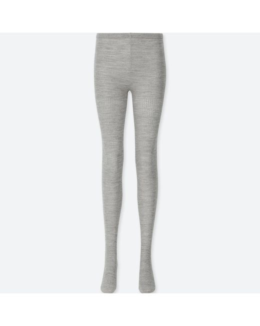 Uniqlo - Gray Women Heattech Glitter Knitted Tights (1 Pack) - Lyst