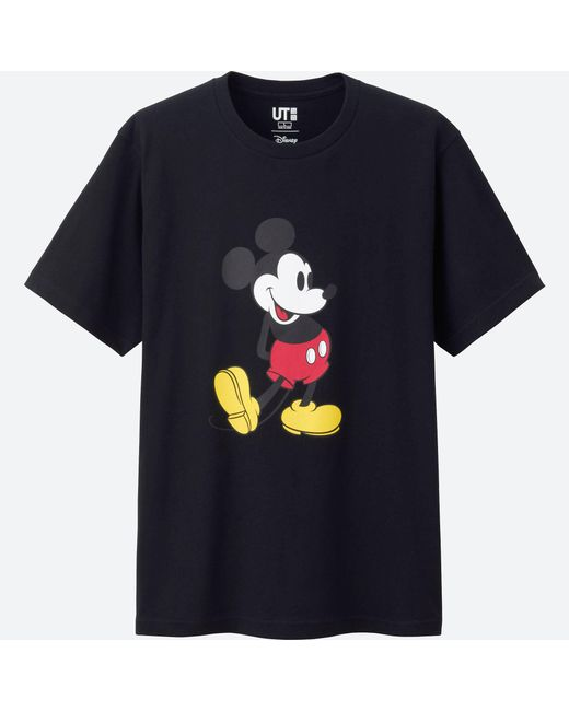 Uniqlo - Black Mickey Stands Short Sleeve Graphic T-shirt for Men - Lyst