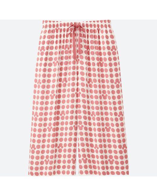 Uniqlo | Pink Women Mickey Blue Relaco 3/4 Shorts (wide) | Lyst