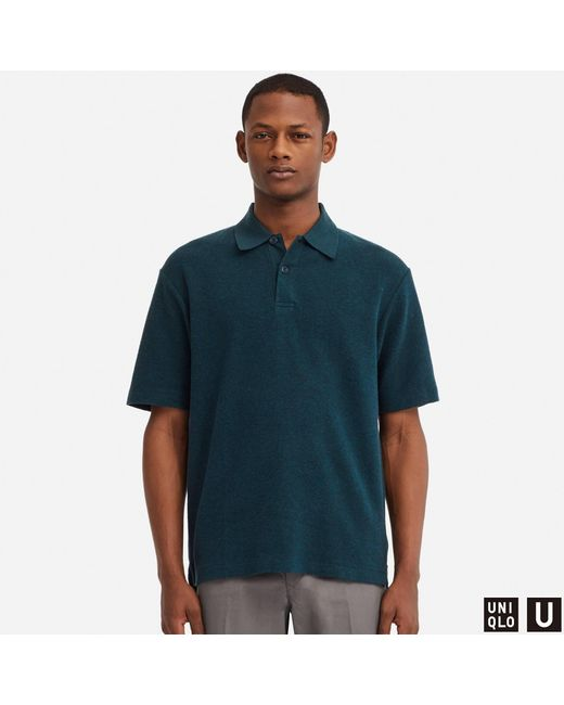 cb7bc253 Lyst - Uniqlo Men U Washed Short-sleeve Polo Shirt in Blue for Men