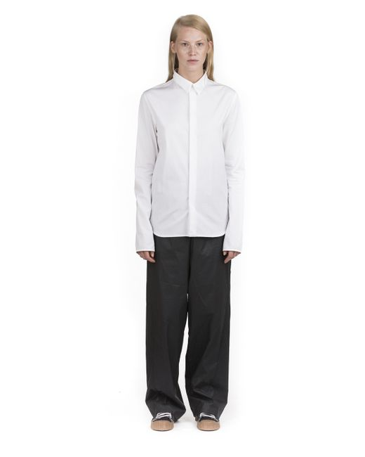 Y Project Tailored White Shirt In Black Lyst