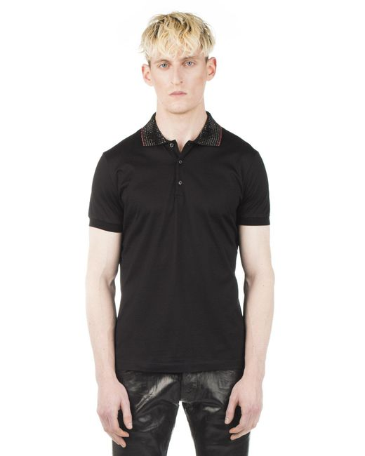 DSquared² | Black Studded Polo Tshirt for Men | Lyst