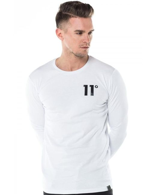 11 Degrees - White Core Long Sleeve T-shirt for Men - Lyst