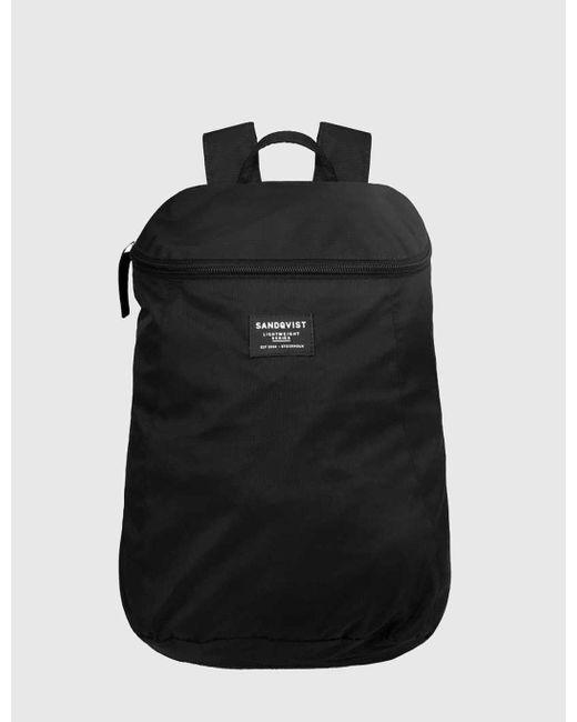 Sandqvist | Black Yuri Backpack (nylon) for Men | Lyst