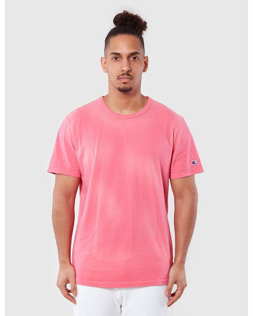 Champion | Pink Reverse Weave T-shirt for Men | Lyst