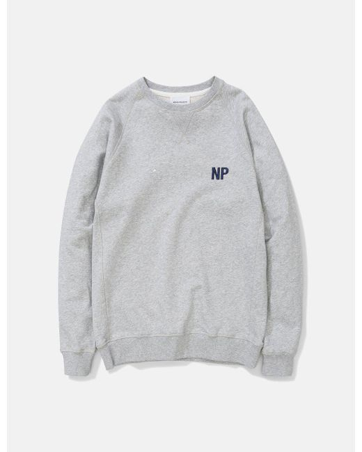 Norse Projects - Gray Ketel Crew Embroidery Logo Sweat for Men - Lyst