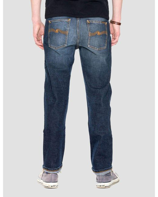 lyst nudie jeans dude dan jeans in blue for men. Black Bedroom Furniture Sets. Home Design Ideas