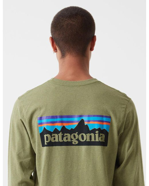 d1af2852c Patagonia - Green P-6 Logo Responsibili-tee Long Sleeved T-shirt for ...