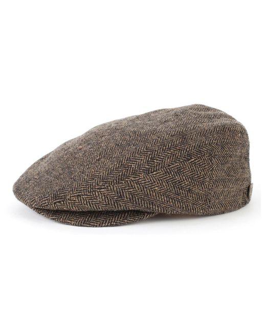 Brixton - Brown Hooligan Flat Herringbone Cap for Men - Lyst