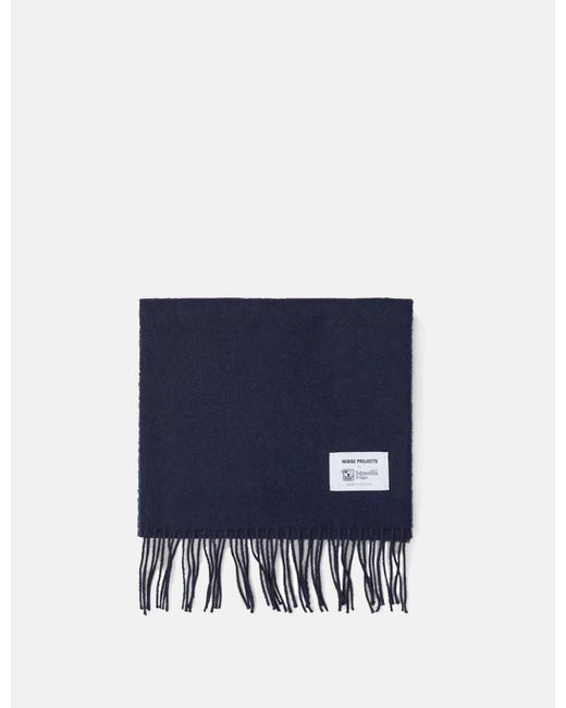 Norse Projects Blue Norse X Johnstons Lambswool Scarf for men