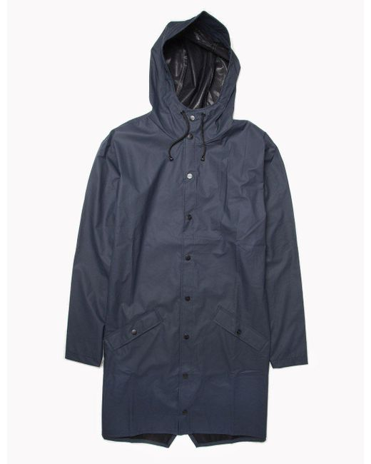 Rains | Blue Long Jacket for Men | Lyst