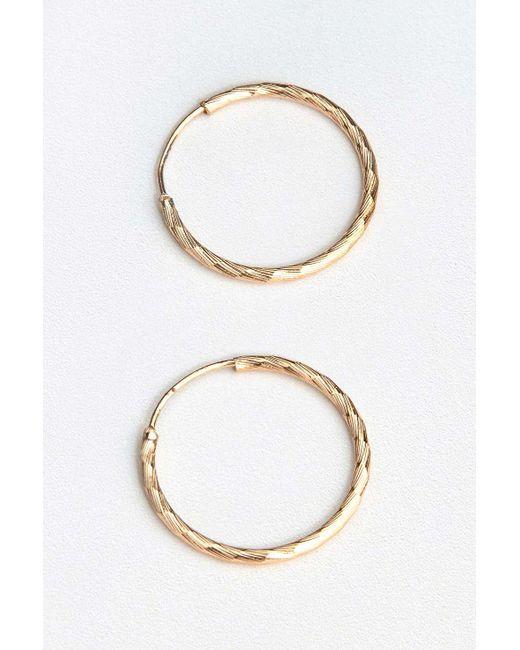 Urban Outfitters - Metallic Diamond-cut Small Hoop Earrings - Lyst