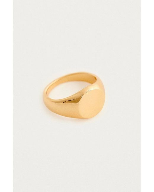 Urban Outfitters - Metallic Circle Signet Ring - Lyst