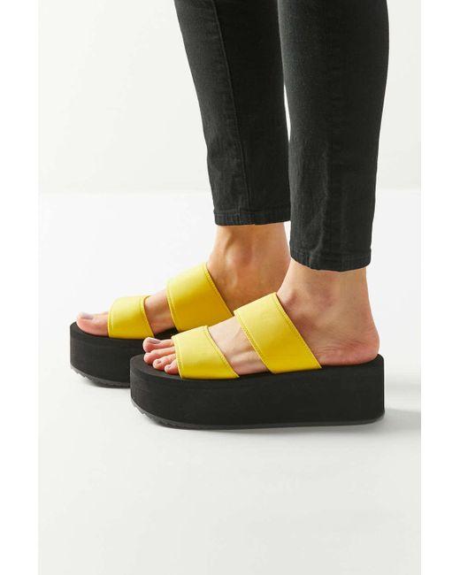 c5f0c2f055a ... Urban Outfitters - Multicolor Uo Ava Neoprene Platform Sandal - Lyst ...