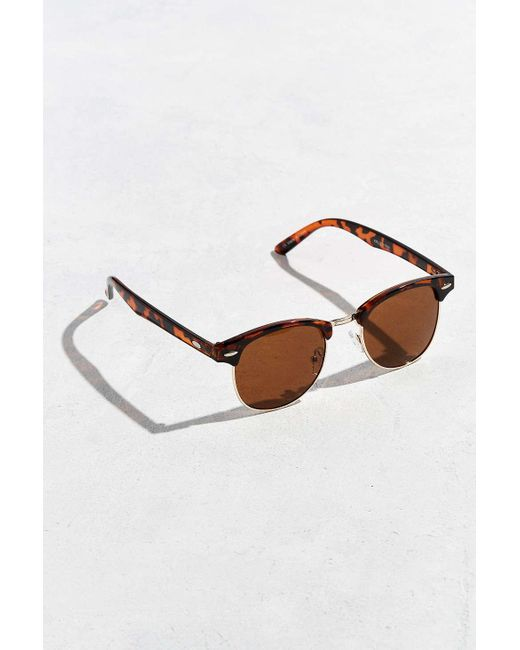 Urban Outfitters | Brown Mass Round Sunglasses for Men | Lyst