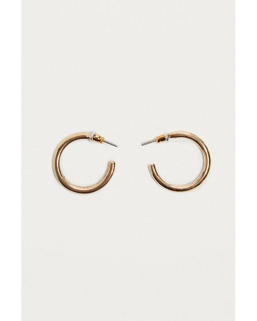 Urban Outfitters | Metallic Small Chunky Hoop Earrings | Lyst