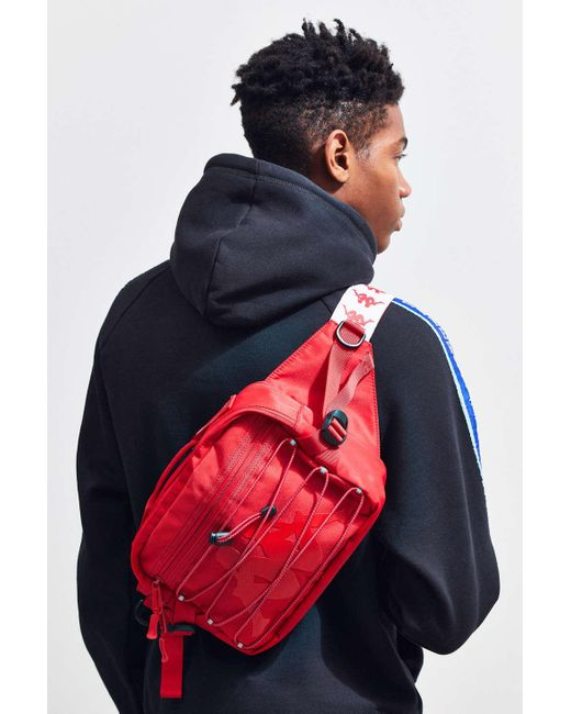 59d135921a Kappa Premium Sling Bag in Red for Men - Lyst