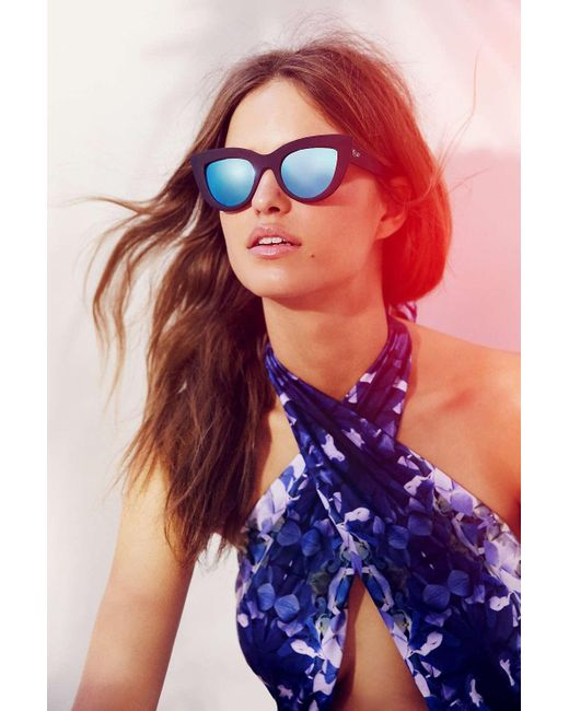 Quay | Blue Kittie Cat-eye Sunglasses | Lyst