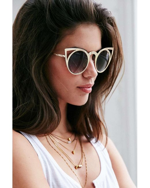 Quay | Metallic Invader Sunglasses | Lyst