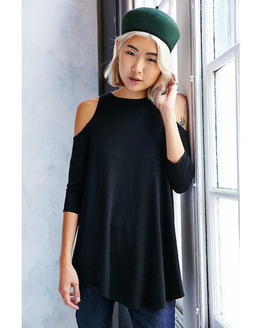 Kimchi Blue   Black Tyra Cold Shoulder Tunic Top   Lyst