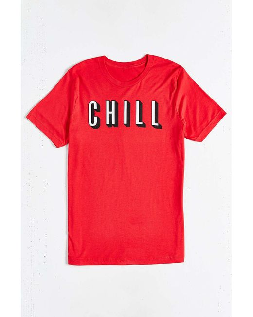 Urban Outfitters | Red And Chill Tee for Men | Lyst