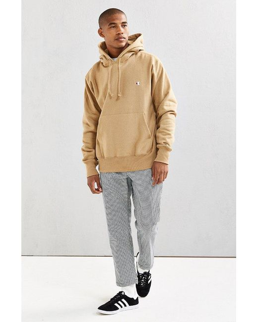 Champion Reverse Weave Cotton Hoodie in Natural for Men | Lyst
