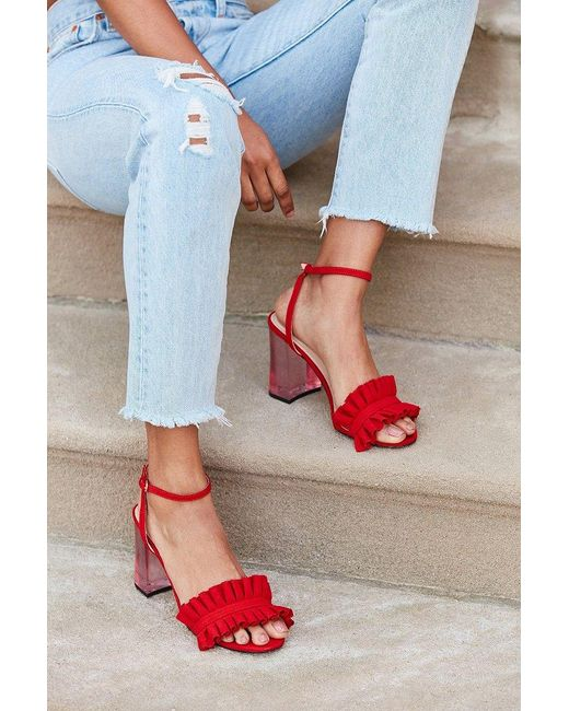 Urban Outfitters | Red Rachel Lucite Heel | Lyst