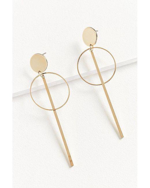 Urban Outfitters | Metallic Diamond Cut Hoop Earring | Lyst