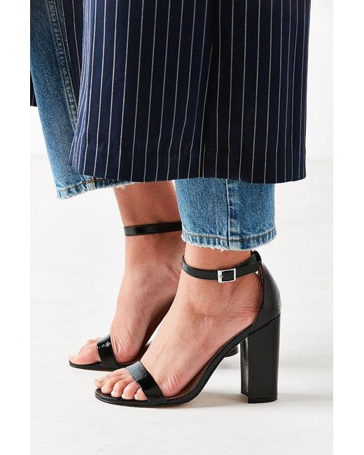 Urban Outfitters | Black Thin Strap Patent Heel | Lyst