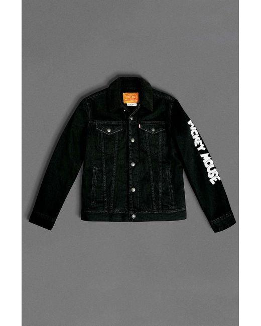 Levi S Mickey Mouse Black Denim Jacket Mens S In Black For Men Lyst