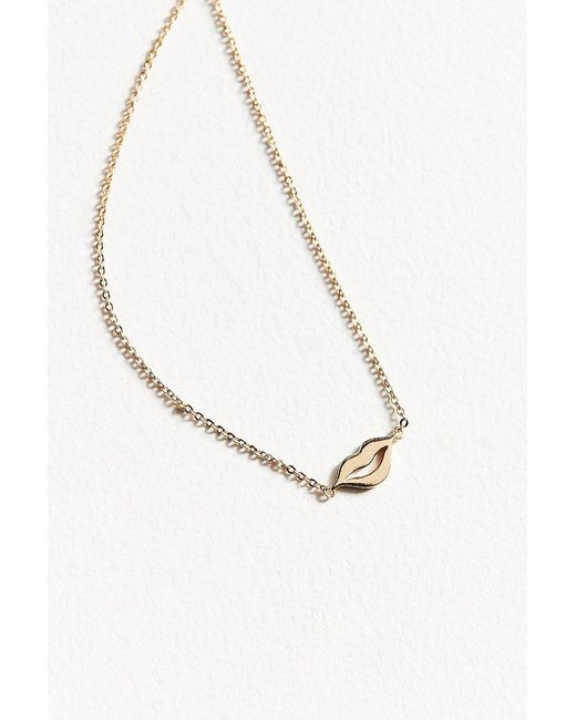 Urban Outfitters - Metallic Pucker Up Charm Necklace - Lyst