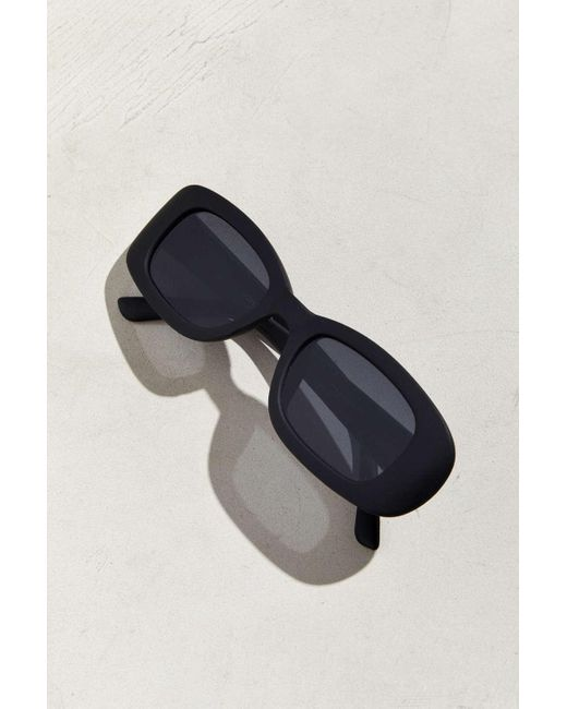 e5694ab8ad ... Urban Outfitters - Black Narrow Plastic Round Sunglasses for Men - Lyst  ...