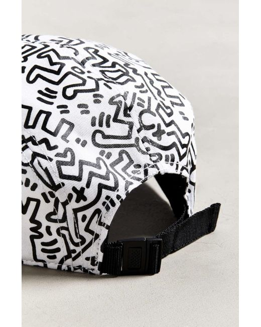 a43befc6cfd ... Urban Outfitters - White Keith Haring Allover Print Hat for Men - Lyst  ...