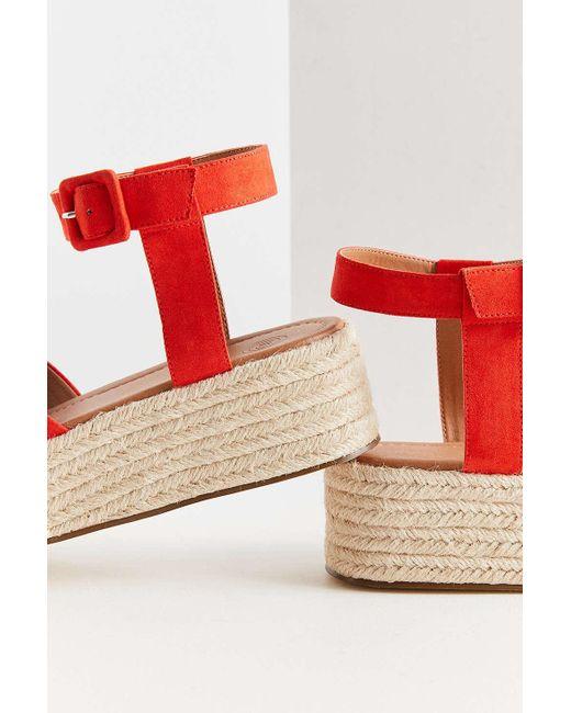 a8e8cb386e2 ... Urban Outfitters - Red Cora Flatform Espadrille Sandal - Lyst ...