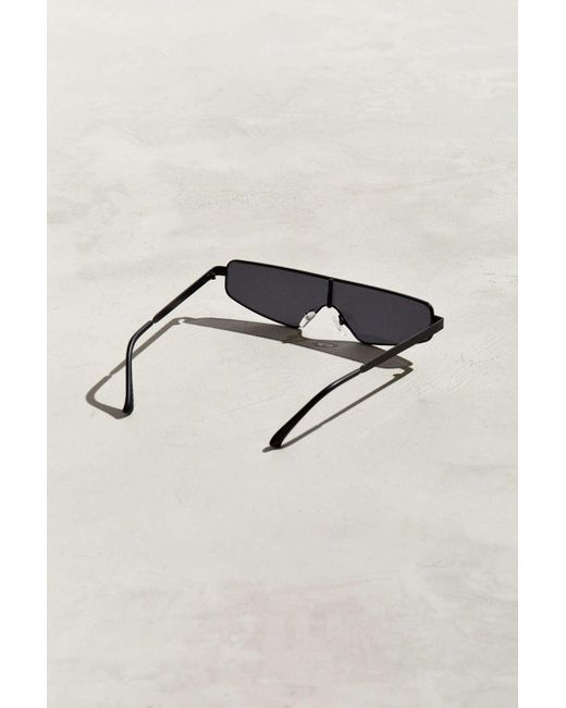 31f576a88c ... Urban Outfitters - Black Flat Brow Rimless Shield Sunglasses for Men -  Lyst ...