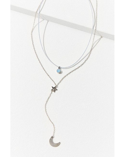 Urban Outfitters | Metallic Celeste Lariat Necklace | Lyst