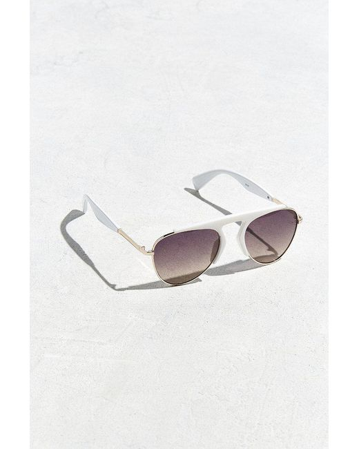 Urban Outfitters | White Aviator Club Hybrid Sunglasses | Lyst