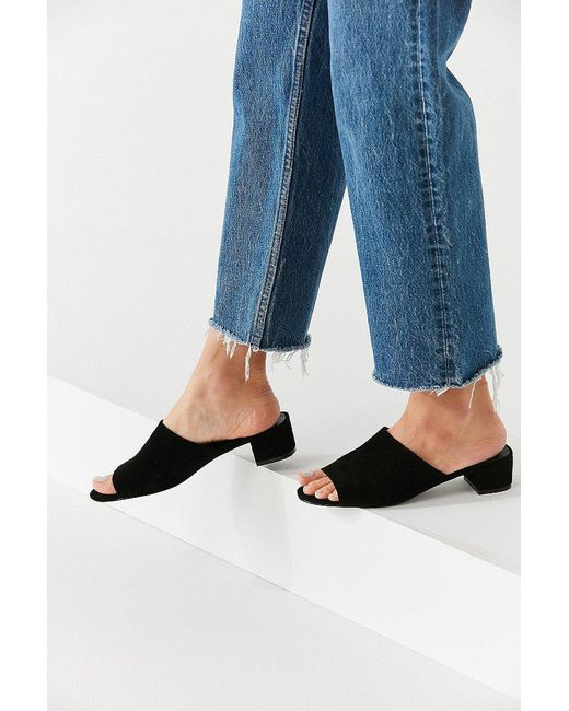 Urban Outfitters - Black Patti Suede Mule Heel - Lyst