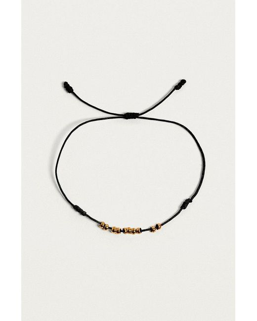 Urban Outfitters | Black Beaded Thread Bracelet | Lyst