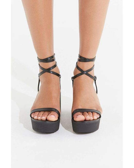 0b9750f029c ... Urban Outfitters - Black Uo Claire Lace-up Platform Sandal - Lyst ...