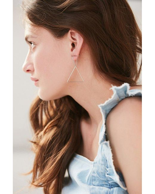 Urban Outfitters | Metallic Stacked Shape Drop Earring | Lyst