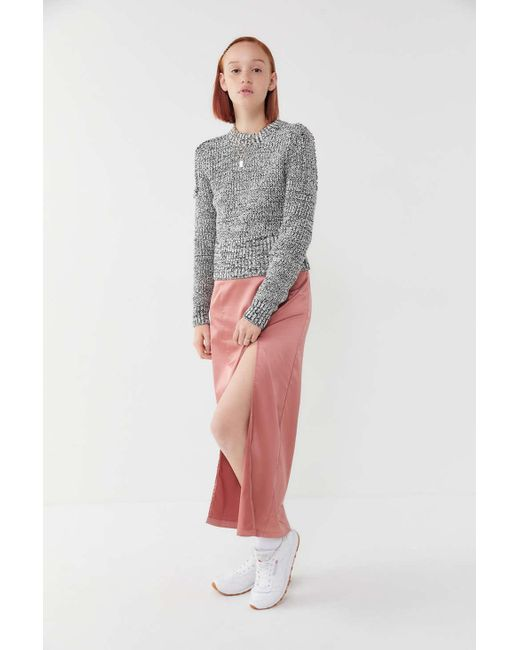 acab8b410 ... Urban Outfitters - Black Uo Ivy Peppered Knit Pullover Sweater - Lyst  ...