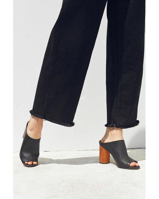 Urban Outfitters | Black Wood Heel Mule | Lyst